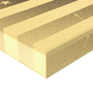 Vintage American Flag Gallery Wrap Canvas