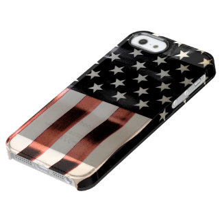 Vintage American Flag Clear iPhone SE/5/5s Case