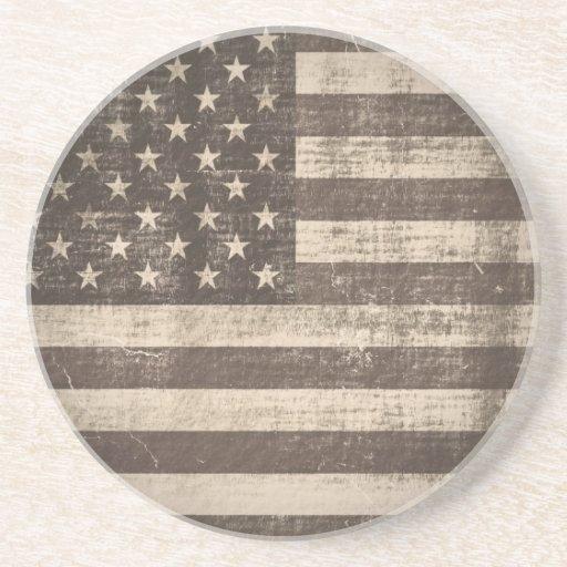 Vintage American Flag Coaster