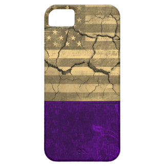 Vintage American flag cracked wall 2 iPhone SE/5/5s Case