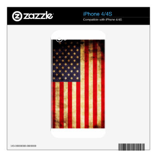 Vintage American Flag Decals For iPhone 4
