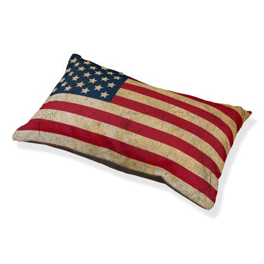 Vintage American Flag Dog Bed Zazzle Com
