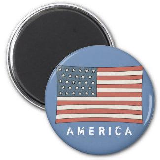 Vintage American Flag Faded Grunge America Magnet