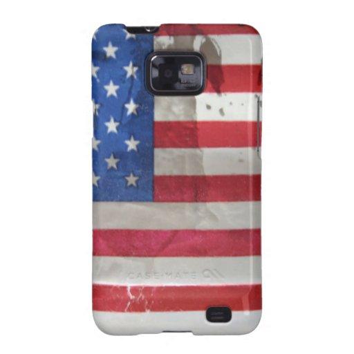 Vintage American Flag Galaxy SII Case