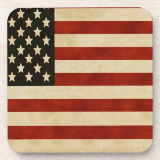 Vintage American Flag GIFTS Beverage Coaster