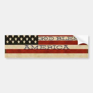 Vintage American Flag GIFTS Car Bumper Sticker
