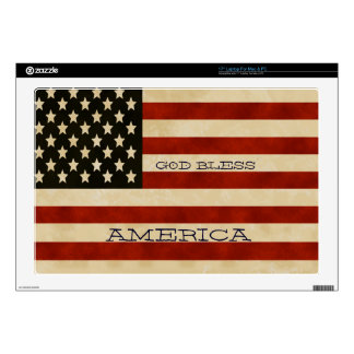 """Vintage American Flag GIFTS Decals For 17"""" Laptops"""