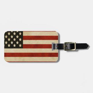 Vintage American Flag GIFTS Luggage Tag