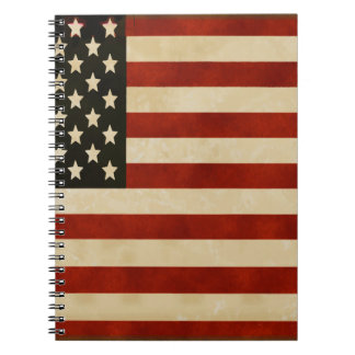 Vintage American Flag GIFTS Notebooks