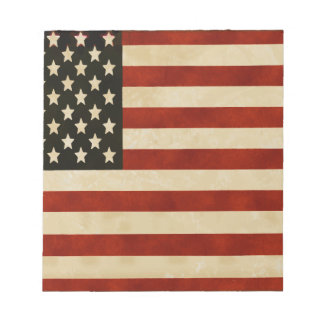 Vintage American Flag GIFTS Notepad