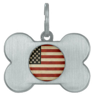 Vintage American Flag GIFTS Pet ID Tag