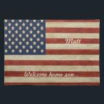 "Vintage American Flag GIFTS Placemat<br><div class=""desc"">Vintage American or British Flag Designs - A Vintage Rustic Flag</div>"