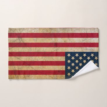 USA Themed Vintage American Flag Hand Towel
