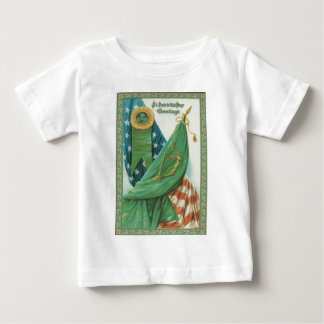Vintage American Flag Harp of Erin St Patrick's Baby T-Shirt