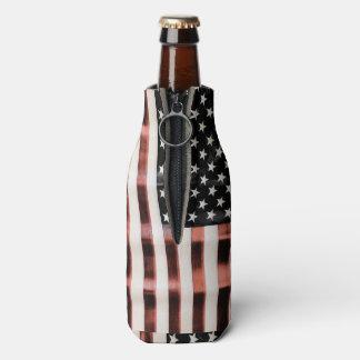 Vintage American Flag HFPHOT01 Bottle Cooler