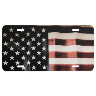Vintage American Flag HFPHOT01 License Plate