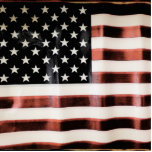 Vintage American Flag HFPHOT01 Photo Sculpture Button