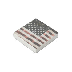 Vintage American Flag Hfphot01 Stone Magnet at Zazzle