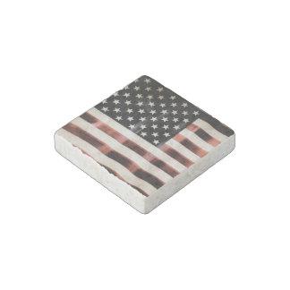 Vintage American Flag HFPHOT01 Stone Magnet