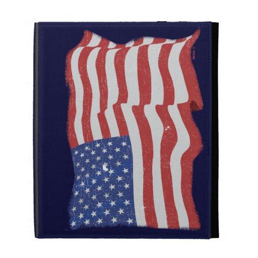 Vintage American Flag iPad Case
