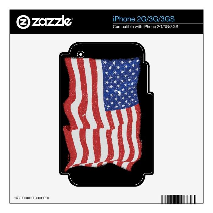 Vintage American Flag iPhone 3 Skin