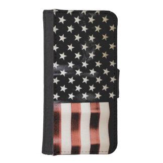 Vintage American Flag iPhone SE/5/5s Wallet