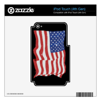 Vintage American Flag iPod Touch 4th Gen Skin iPod Touch 4G Decal