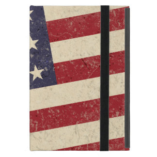 Vintage American Flag July 4th BBQ Faded Old Glory Cover For iPad Mini