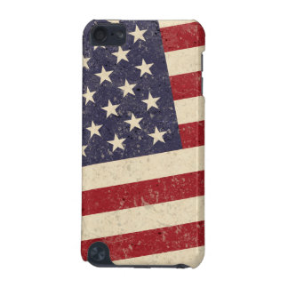 Vintage American Flag July 4th BBQ Faded Old Glory iPod Touch (5th Generation) Case