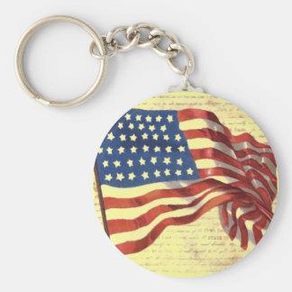 Vintage American Flag Keychain