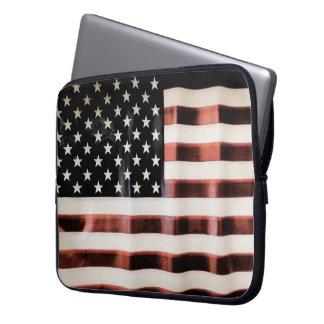 Vintage American Flag Laptop Sleeve