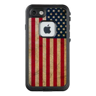 Vintage American Flag LifeProof FRE iPhone 7 Case