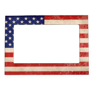 Vintage American Flag Magnetic Frame