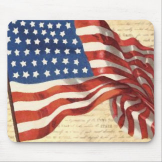 Vintage American Flag Mouse Pad