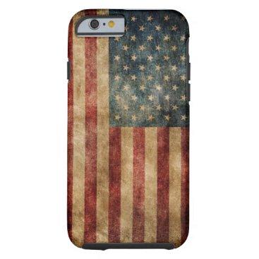 purplepaperinvites Vintage American Flag OtterBox iPhone 6/6S CASE