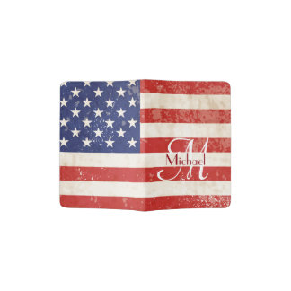 Vintage American Flag Passport Holder