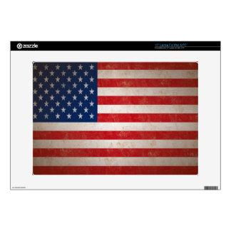 Vintage American Flag Patriotic Laptop Skin