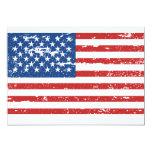 Vintage American Flag Personalized Invitation