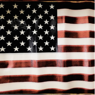 Vintage American Flag Acrylic Cut Out