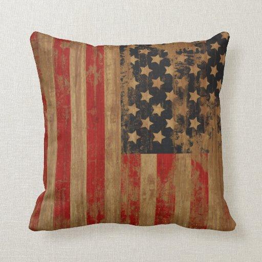 Vintage Pillows: Vintage American Flag Pillows