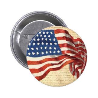Vintage American Flag Pinback Button