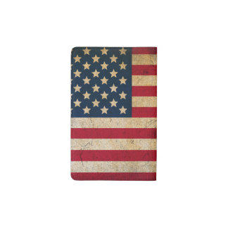 Vintage American Flag Pocket Moleskine Notebook