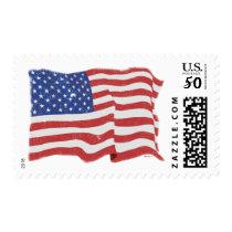 Vintage American Flag Postage