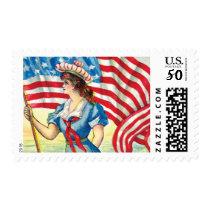 Vintage American Flag Postage Stamp