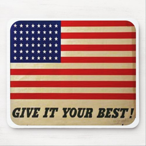 Vintage American Flag Poster Mouse Pad mousepad