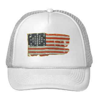Vintage American Flag Products Trucker Hat