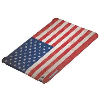Vintage American Flag, Rustic Patriotic USA Case For iPad Air