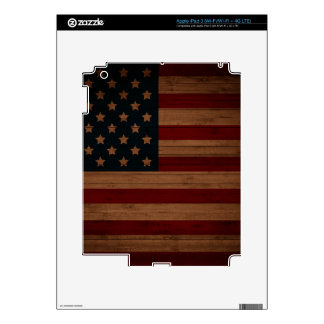 Vintage American Flag Decal For iPad 3