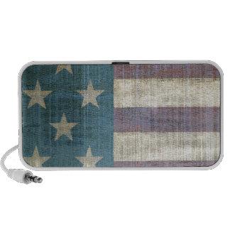 Vintage American Flag iPod Speakers