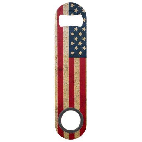 Vintage American Flag Speed Bottle Opener